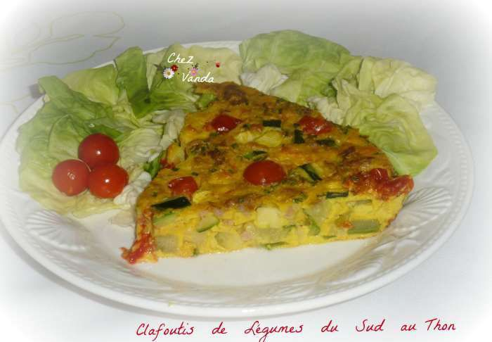 Clafoutis de légumes du sud au thon recette weight watchers
