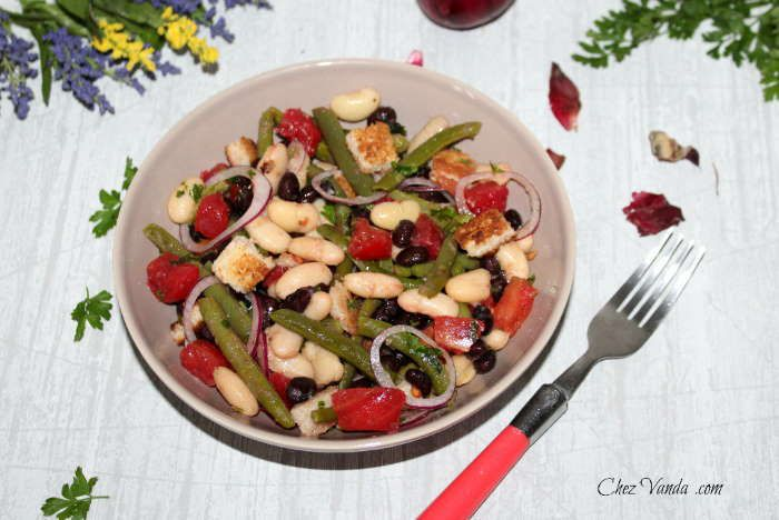 Salade aux 3 haricots weight watchers