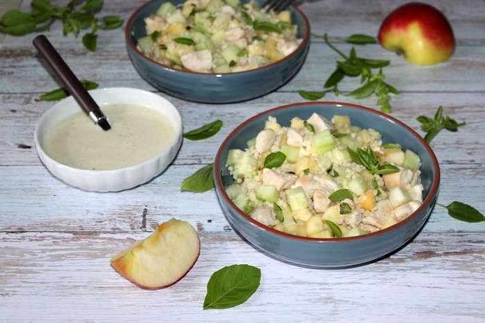Salade fraîcheur (poulet pâtes pomme et concombre) recette weight watchers