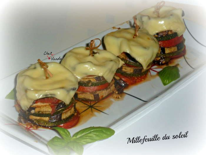 millefeuilles aubergines courgetets weight watchers