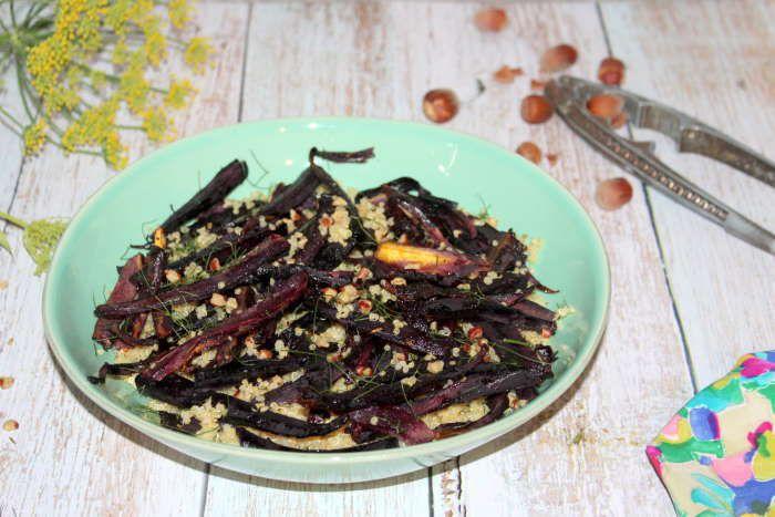 Quinoa croquant et ses carottes violettes rôties au four recette WW