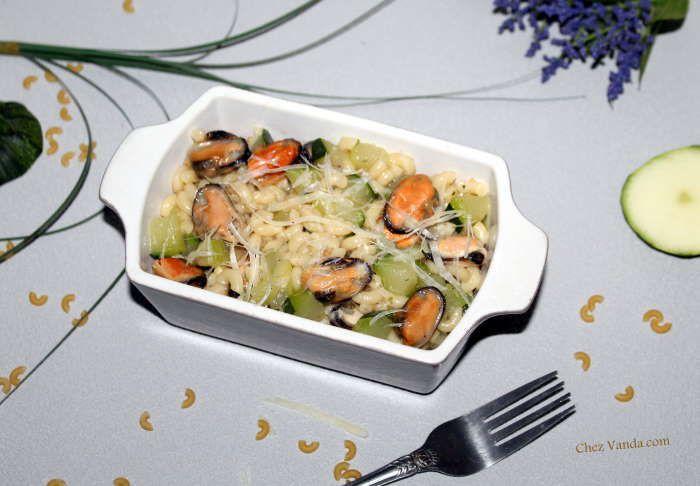 Coquillettes aux courgettes et aux moules façon One Pasta