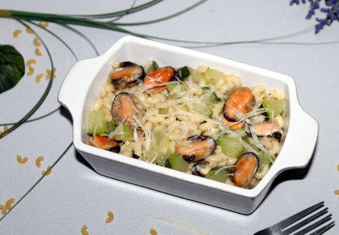 One Pasta courgetets moules  à la cuisson basse température