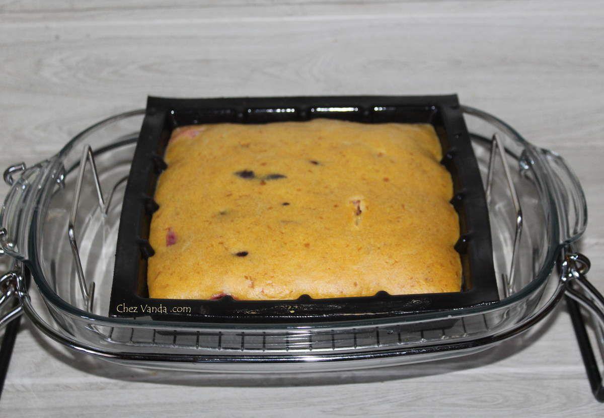 Gâteau 4/9 à la prune cuisson basse température