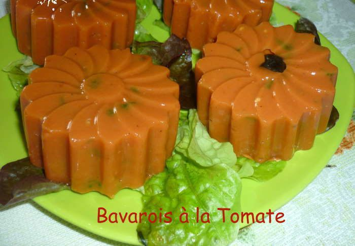 bavarois aux tomates recette weight watchers