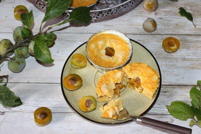gateau  flocons d'avoine et prunes à l omnicuiseur