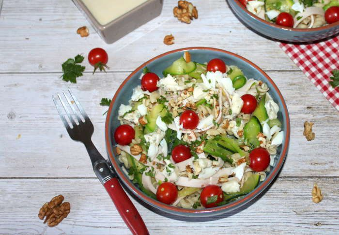 recette weight watchers  Salade folle de torsettes et courgettes au gorgonzola