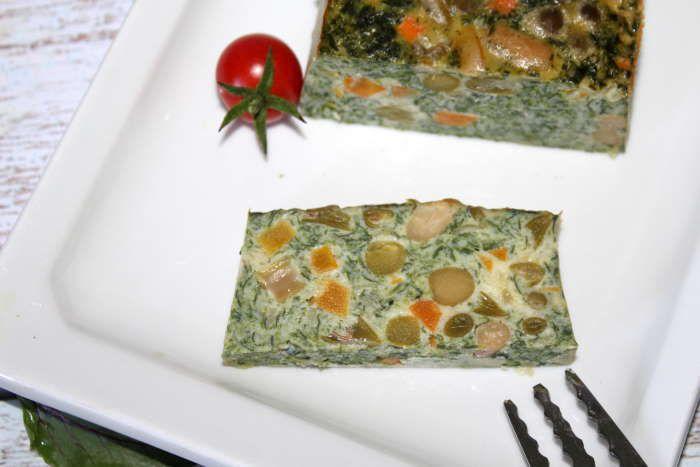 Flan d'épinards à la macédoine recette minceur