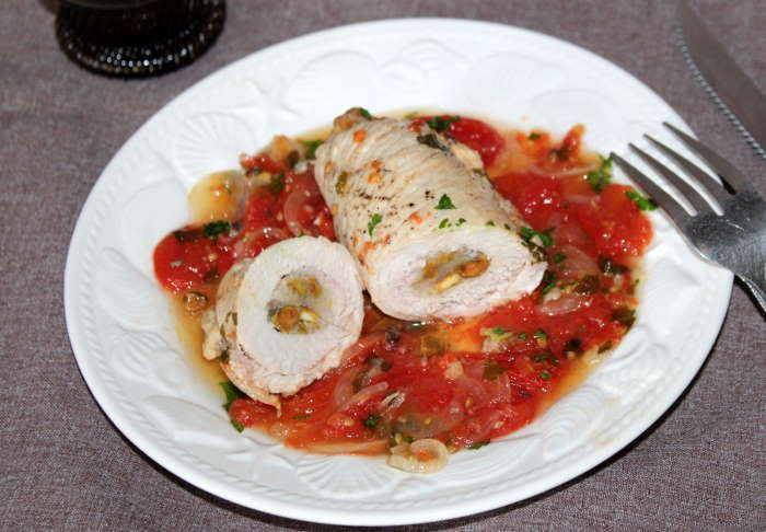 Roulades de dinde aux pistaches recette weight watchers