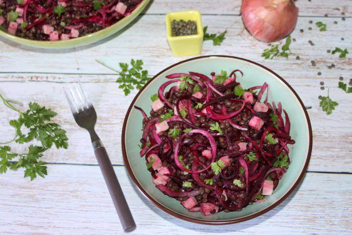 salade de lentilles betteraves et jambon recette ww