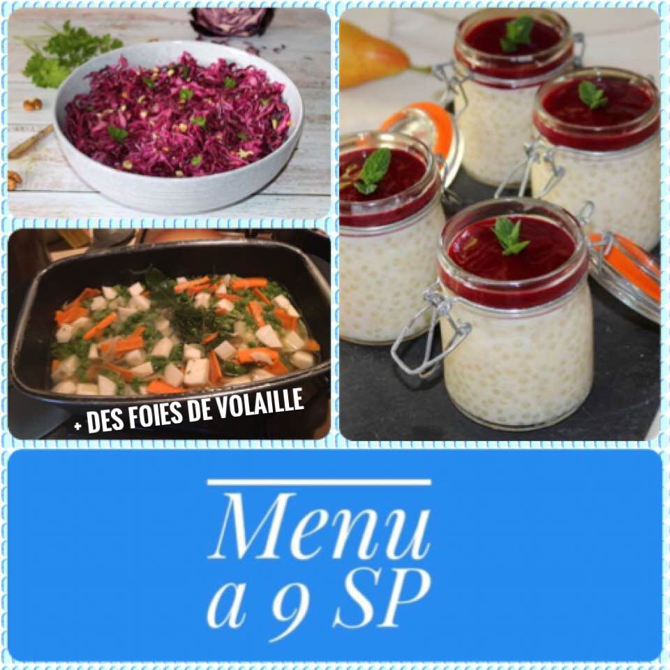 idée menu  à 9SP