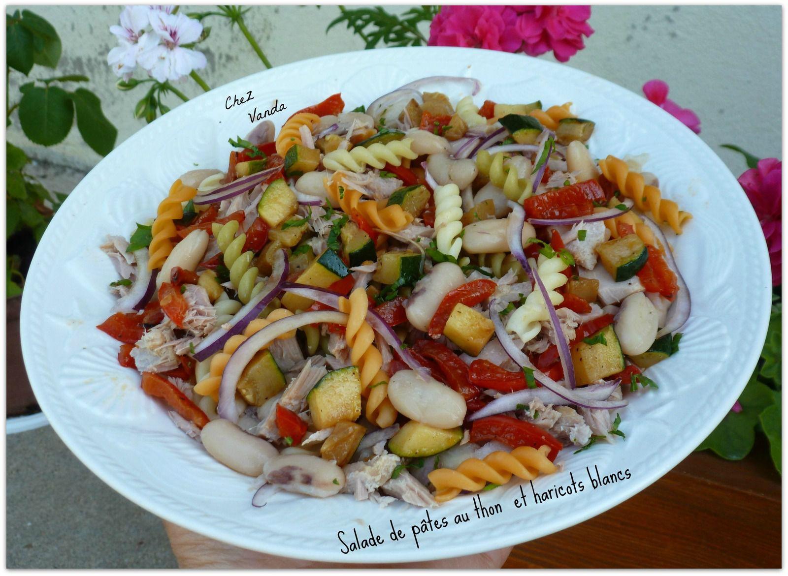 Salade de pâtes au thon et haricots blancs