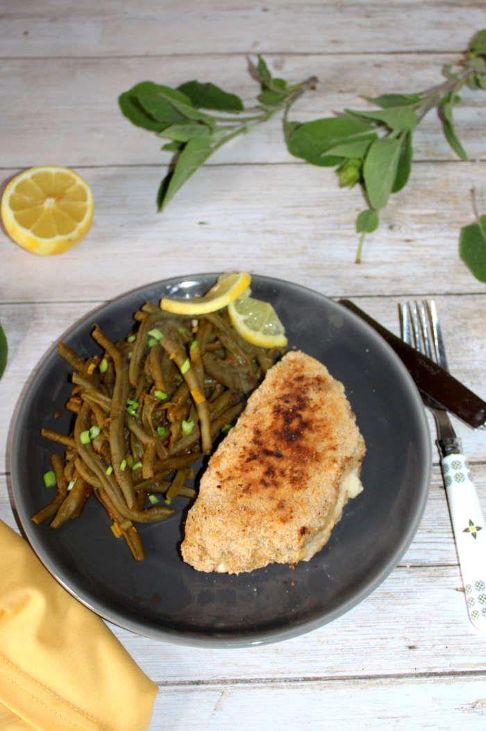 Escalopes de veau au Cheddar (façon cordon bleu )