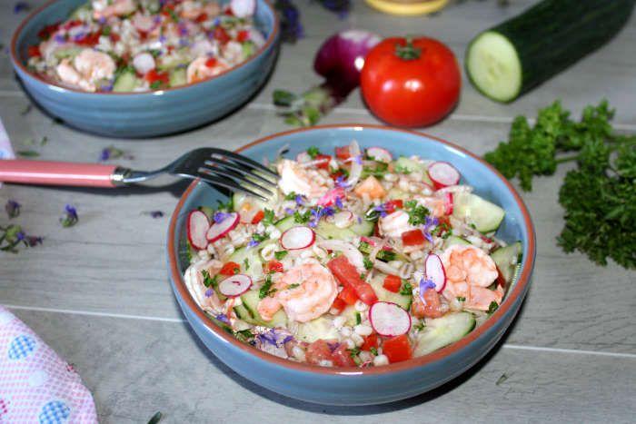 salade-composée-orge-perlé-legumes-crevettes