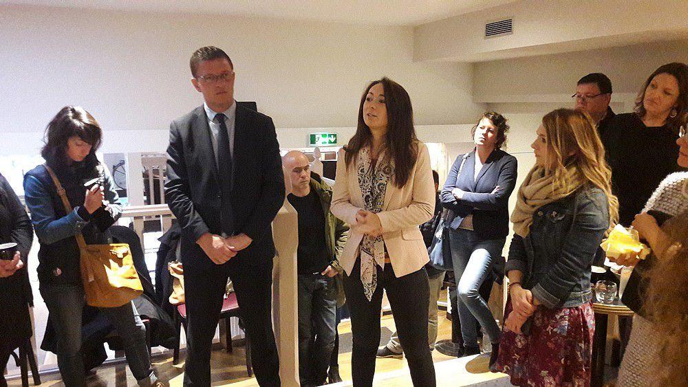 De gauche à droite Benoît Arrivé, Louise Moytier et Céline Heranval.