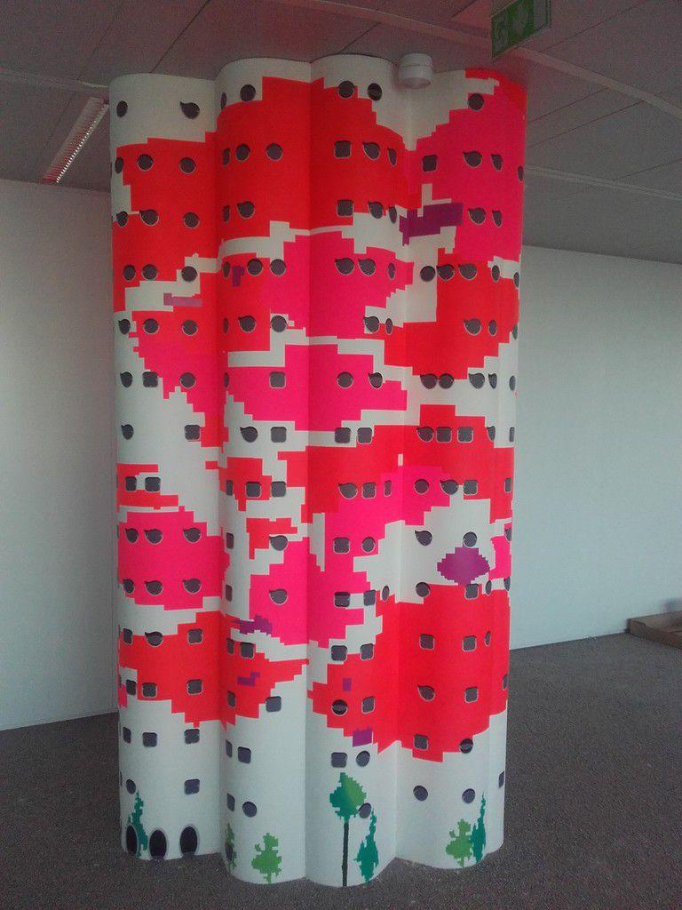 travaux effectués suite a une demande d'Alexia Kellens(Mobilitis ) .Nous avons réalisé les formes en staff GRG pour une salle de réunion ,afin de recouvrir des colonnes ,et habiller certains casiers