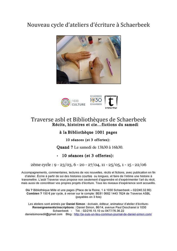 Ateliers d'écriture Schaerbeek