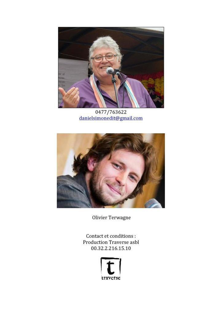 Lecture-spectacle Daniel Simon / Olivier Terwagne (Musique) 20 juillet 2019 - Mons