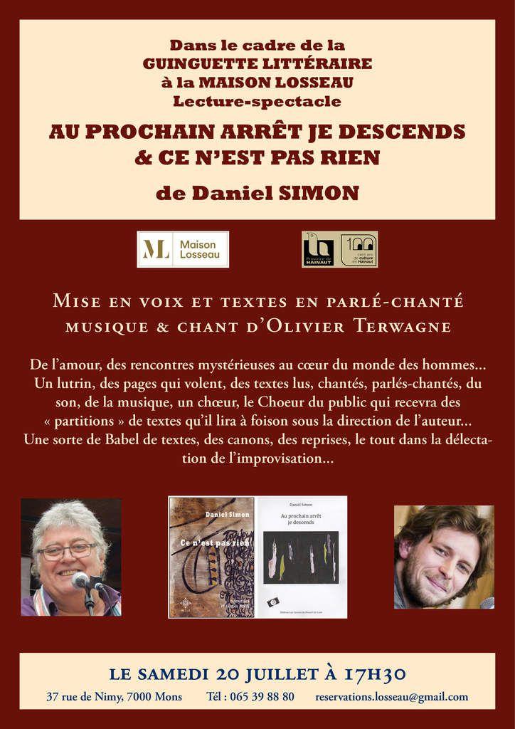 Lecture-spectacle à Mons(Guinguette littéraire) ce samedi 20 juillet!