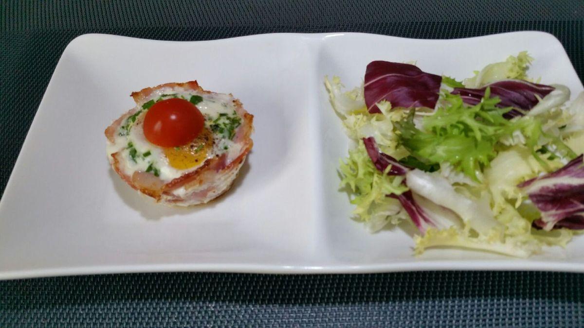 4 - Servir aussitôt accompagné d'une petite salade ou des tranches de pain grillé avec de petites tomates cerises en décoration.