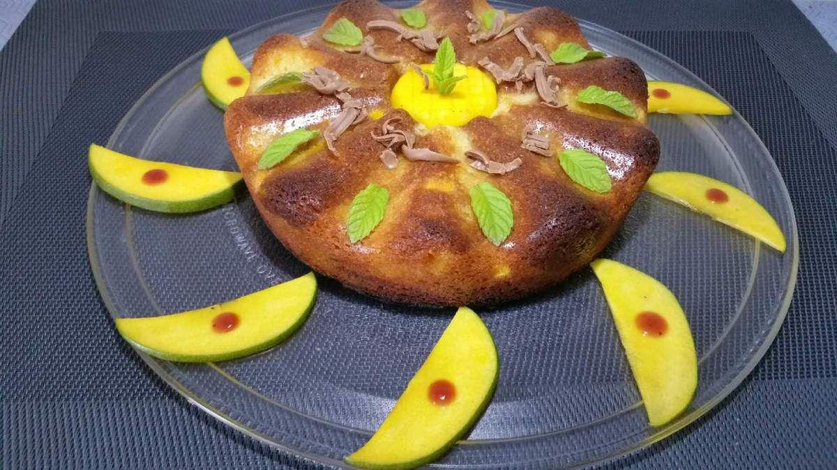 quatre-quarts marbré pralinoise mangue