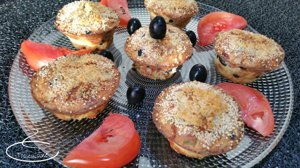muffins de pomme de terre tomates-olives-fromage