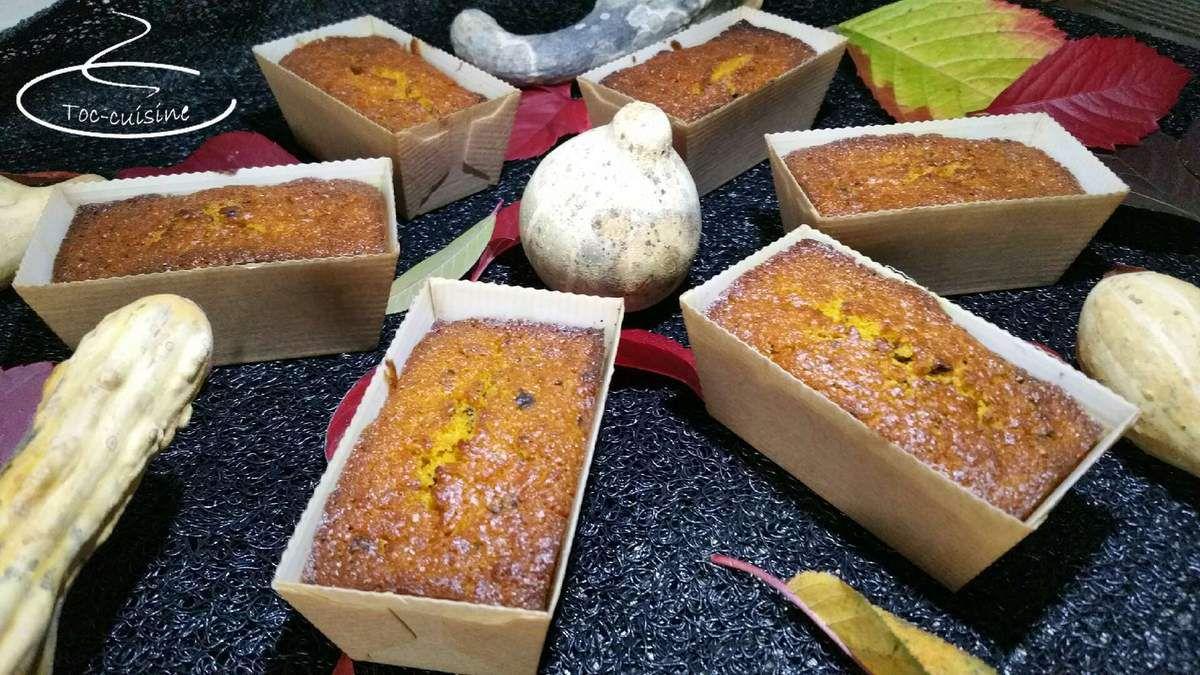 mini-cakes au potimarron chocolat pralinoise et anis vert