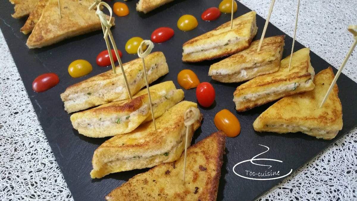 bouchées de pain perdu aux sardines