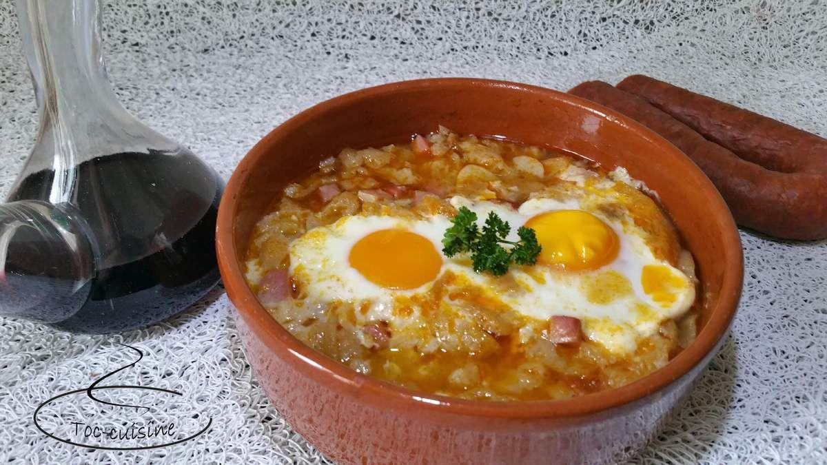 soupe à l'ail Castillane - sopa de ajo castellana