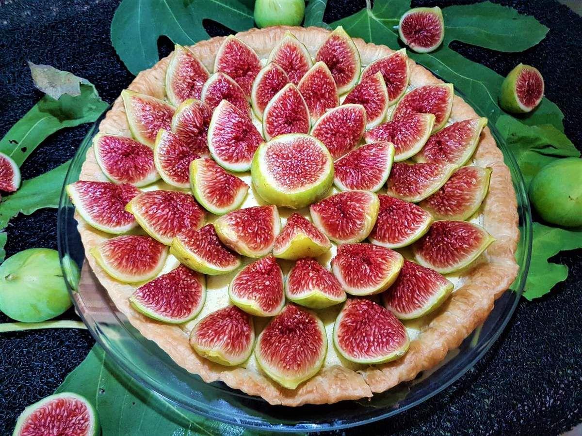 tarte aux figues fraîches à la crème d'amande