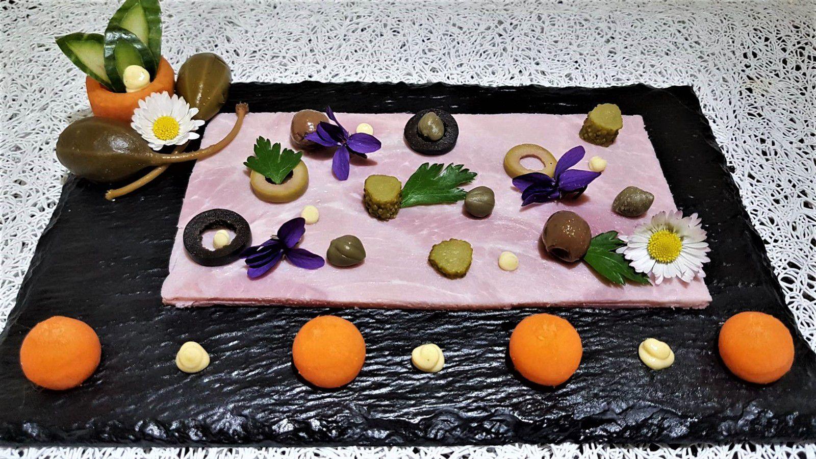 2 - Servir ce joli tableau accompagné de salade verte, de légumes ou de féculents