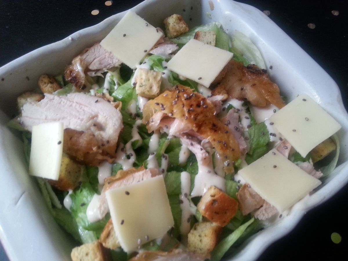 La salade Caesar (ma version)