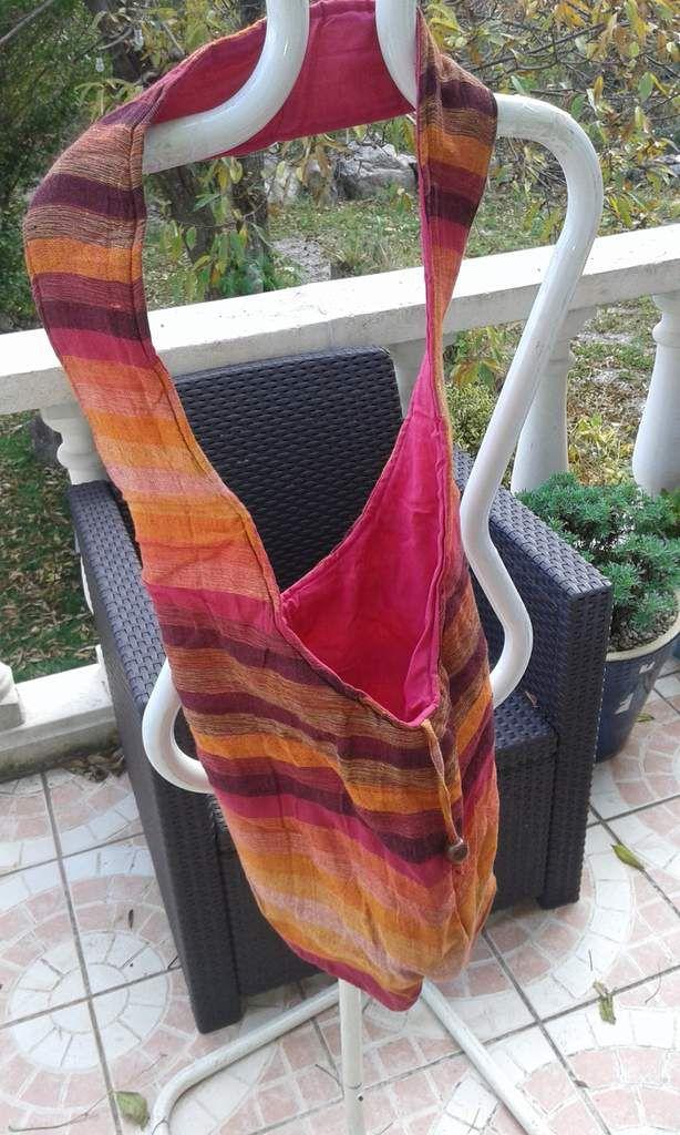 Sac tissé bandoulière (sac moine)