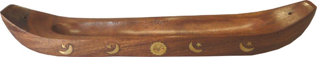Porte-encens canoë en bois