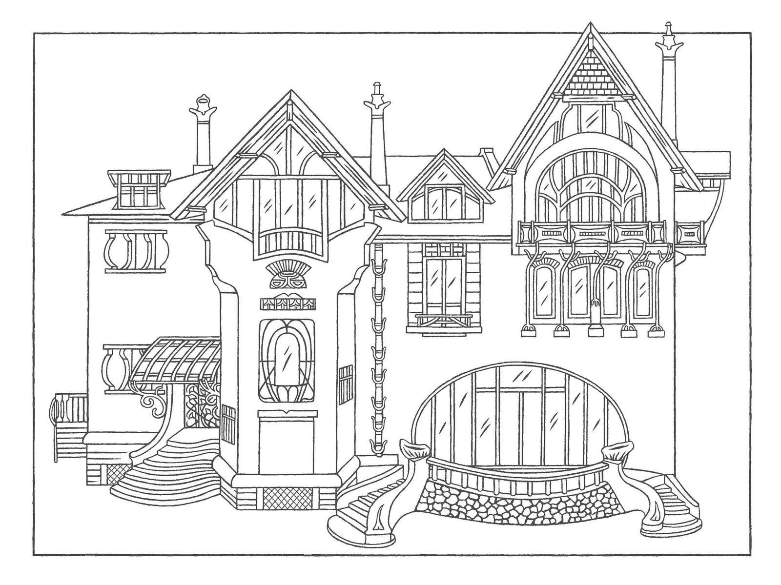La villa Majorelle, illustrée par Sylvie Bessard, à retrouver sur la page Facebook de la Villa Majorelle @villaMajorelleNancy