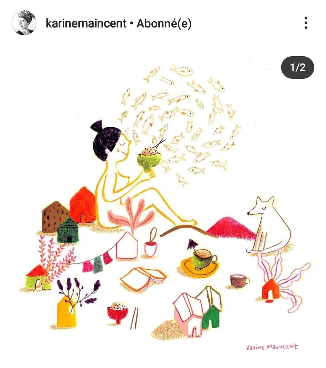 Et voici la réponse de l'illustratrice Karine Maincent