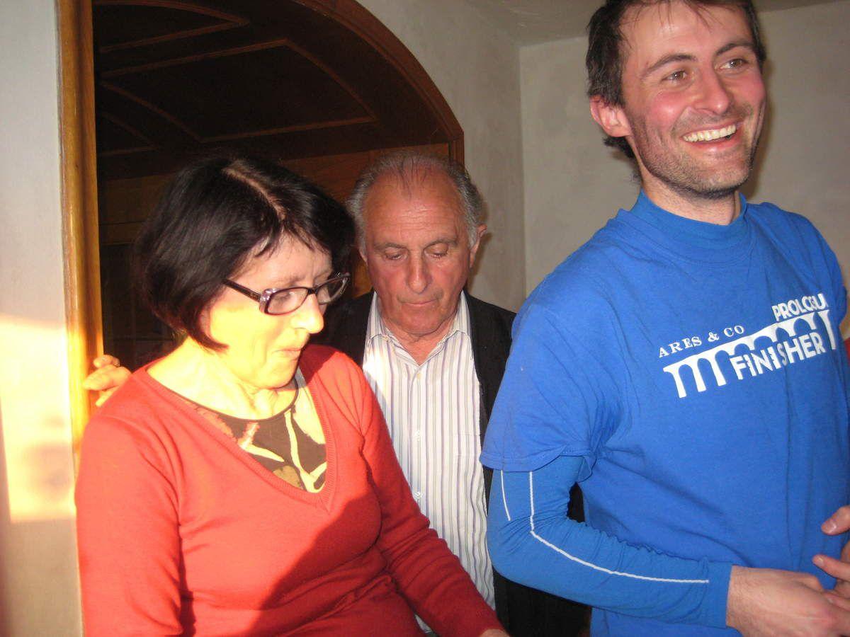 Denise, Bernard et Ludo, à Néchin