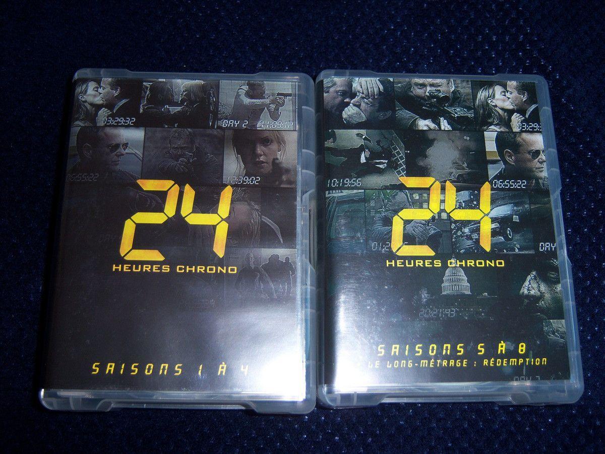24 box saison 1 à 8 en DVD.