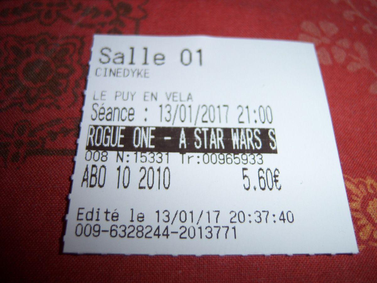 Le ticket de cinéma.