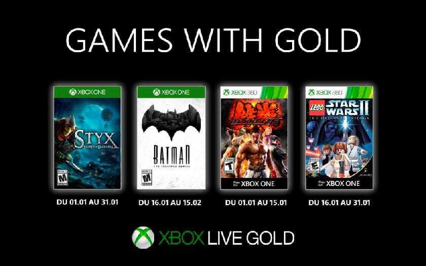 Games with Gold - Janvier 2020