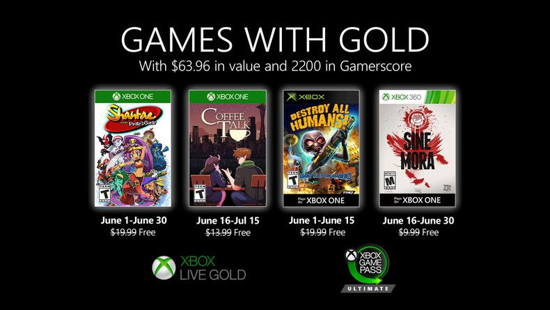 Games with Gold Juin 2020