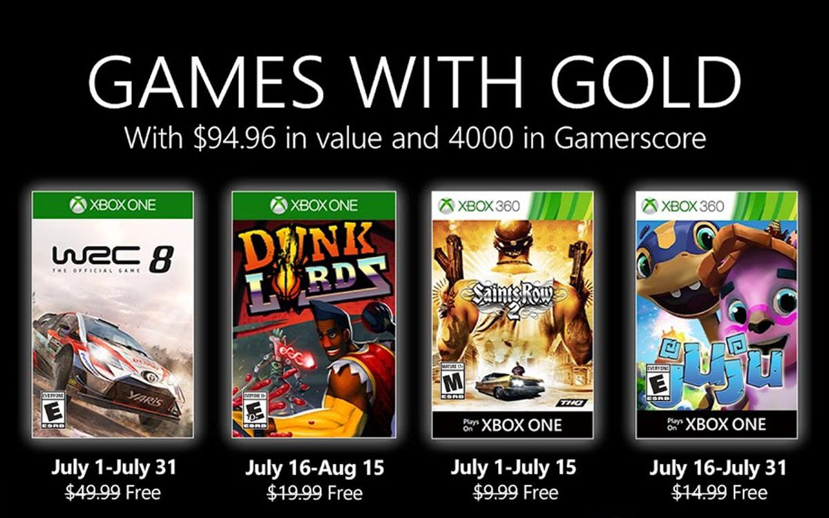 Games with Gold Juillet 2020