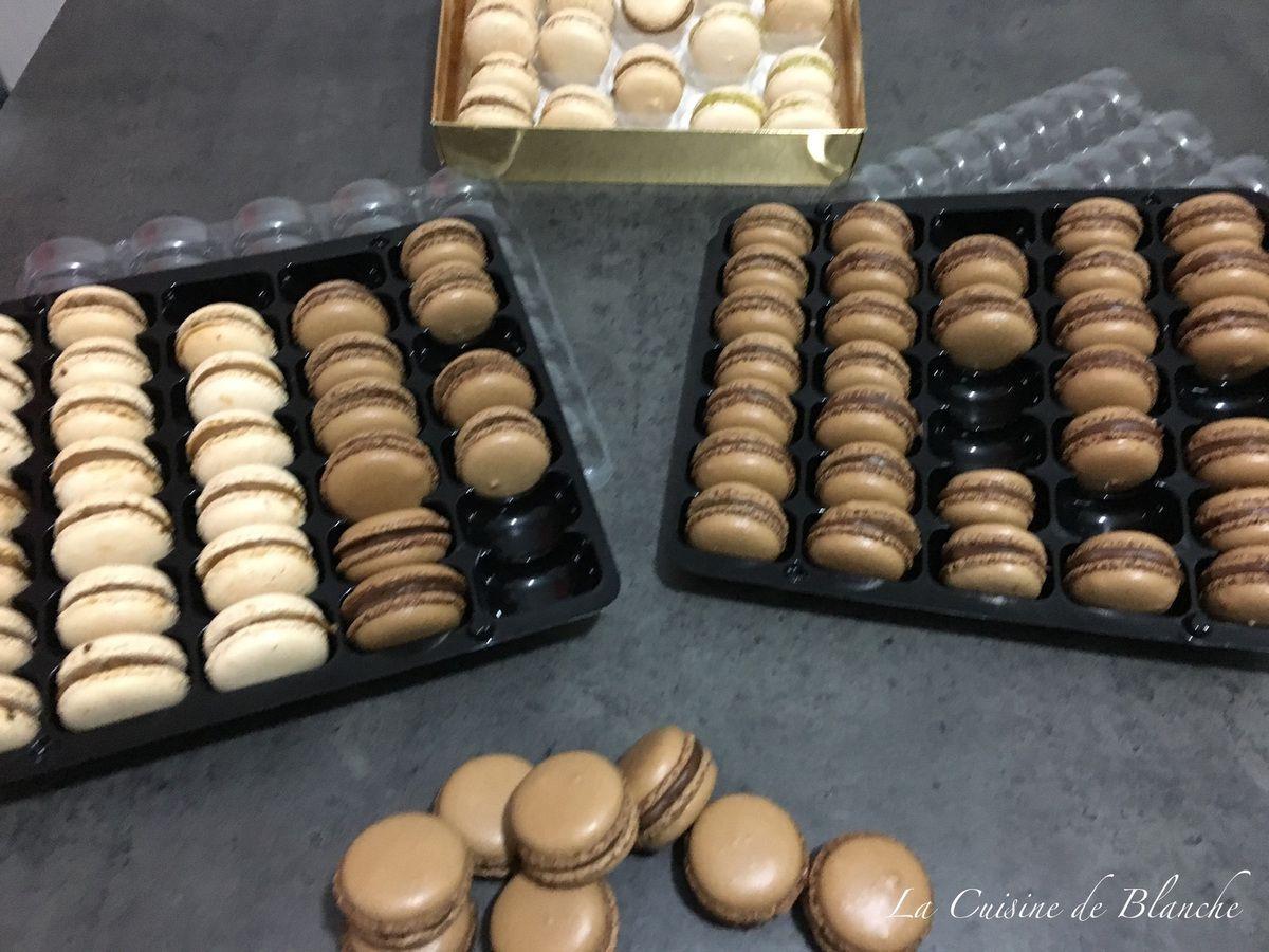 Macarons chocolat - praliné
