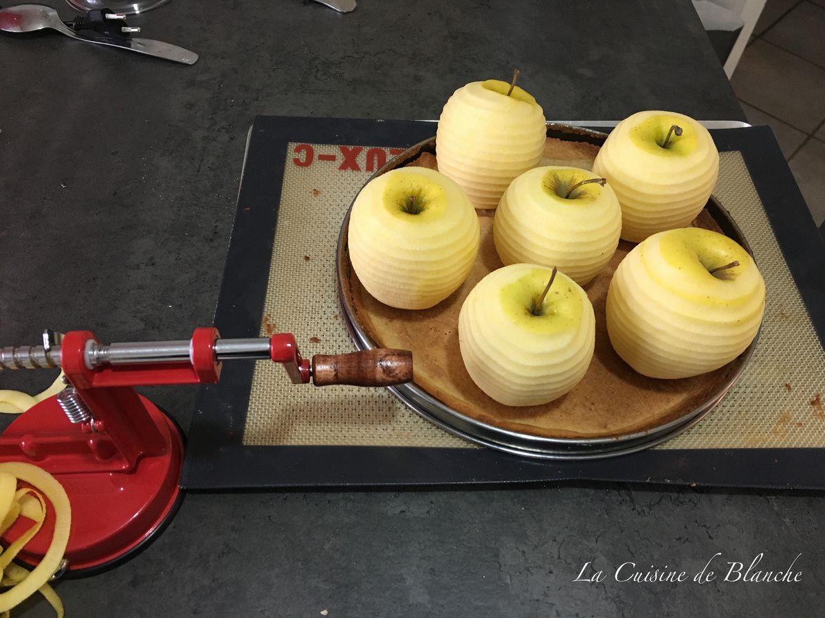 Tarte aux pommes et sa crème noisette