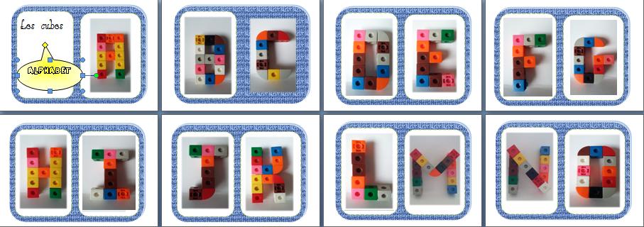 nombres en cubes