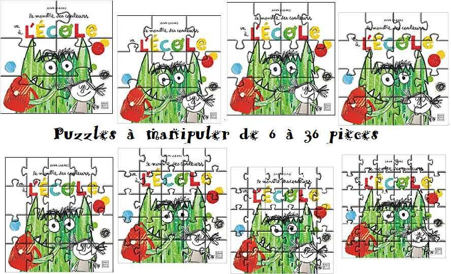 Puzzle 1ère de couverture : Le monstre des couleurs va à l'école