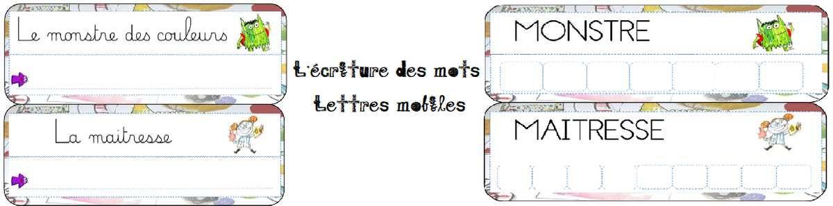 Lettres mobiles et lettres cursives