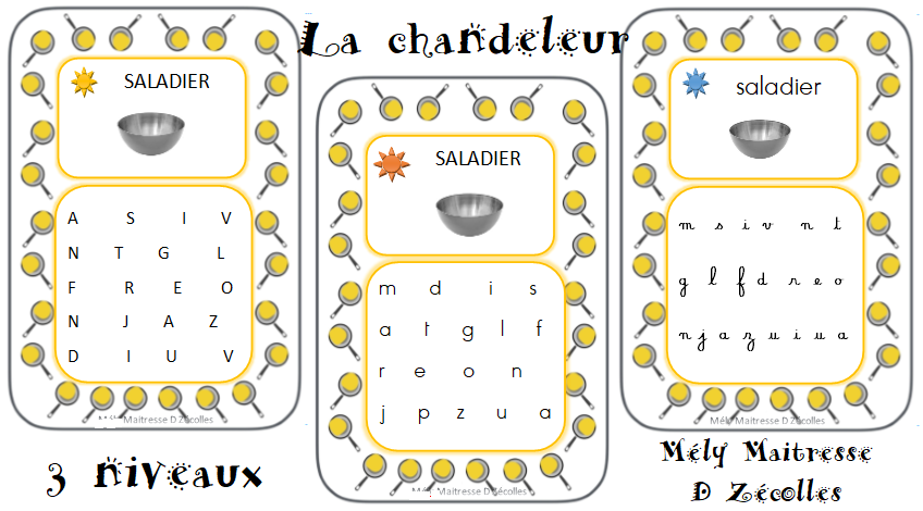 La chandeleur : jeu des lettres à retrouver