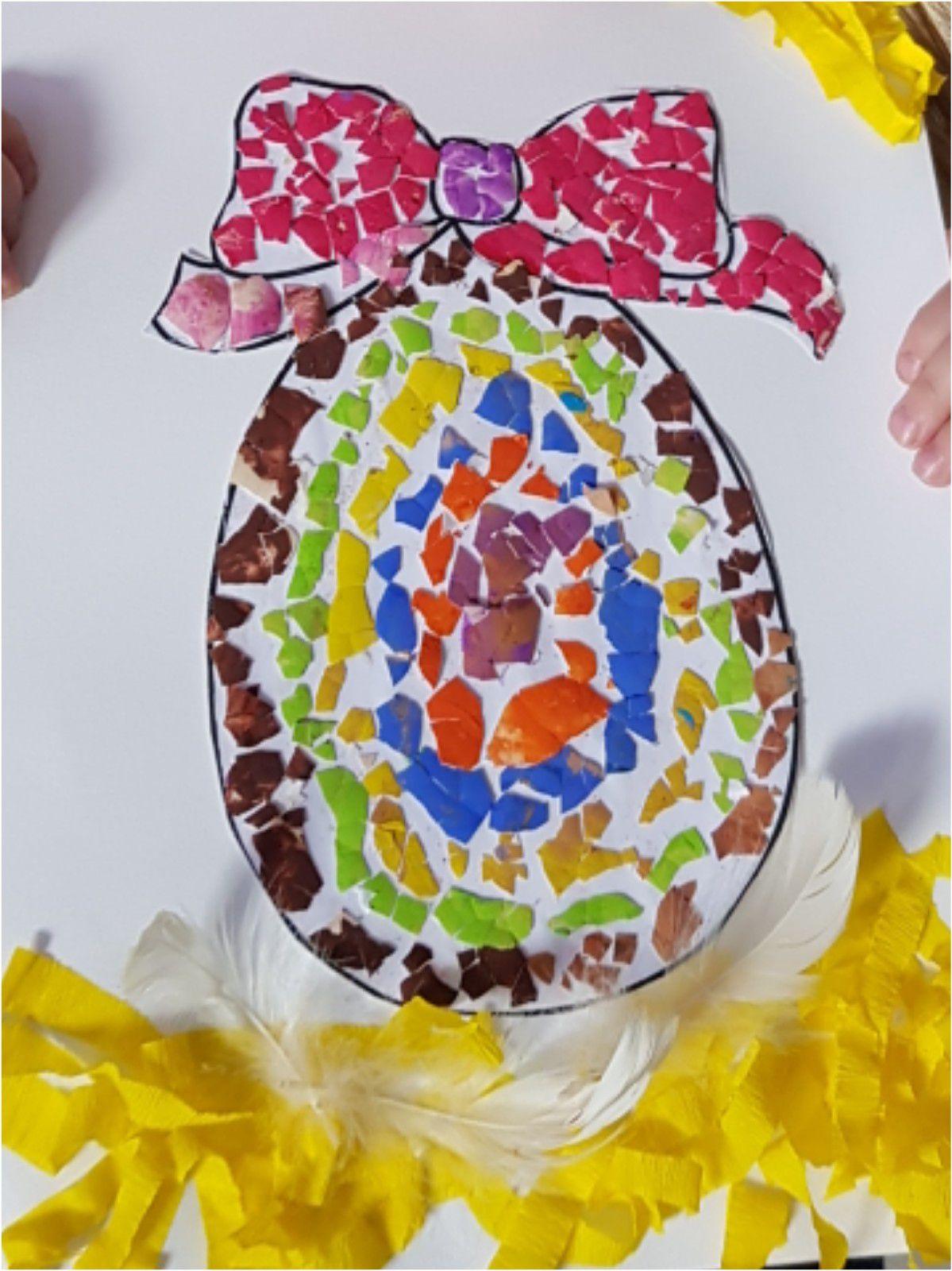 Arts visuels : Pâques avec des coquilles d'œufs