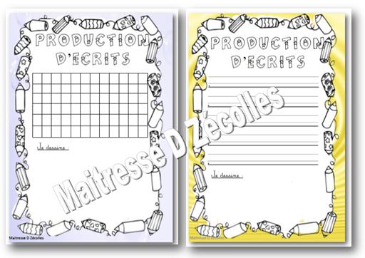 La production d'écrits en maternelle GS